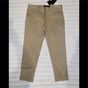 Zara Man Khaki Cropped Skinny Slim Dress Pants 32